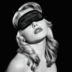 S & M - Satin Blindfold Black
